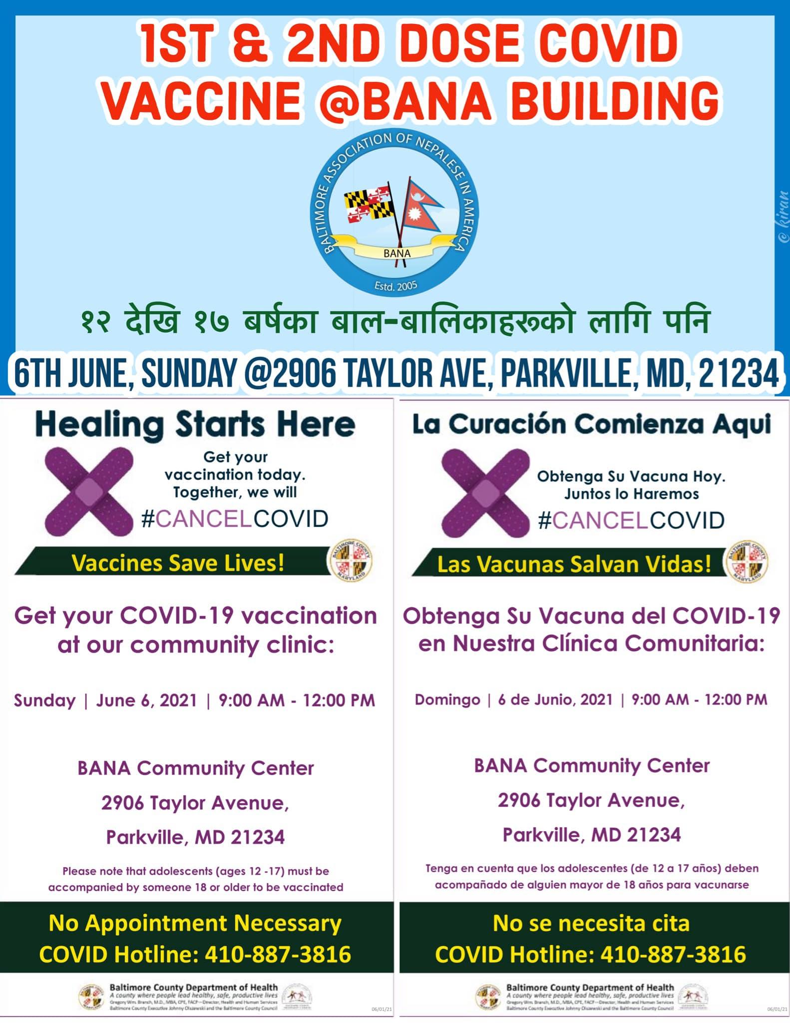 1st & 2nd Dose Covid Vaccine